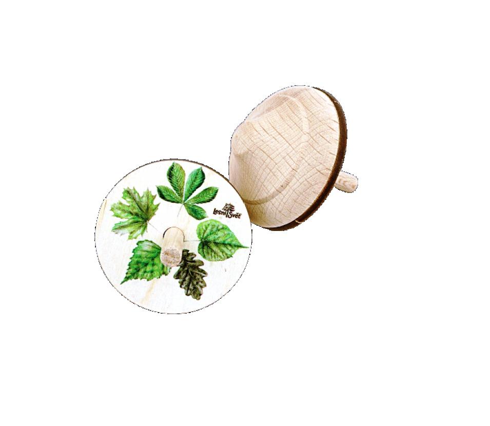 Dřevěná káča listy