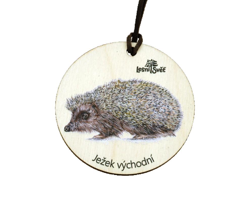 Dřevěná medaile klasik ježek