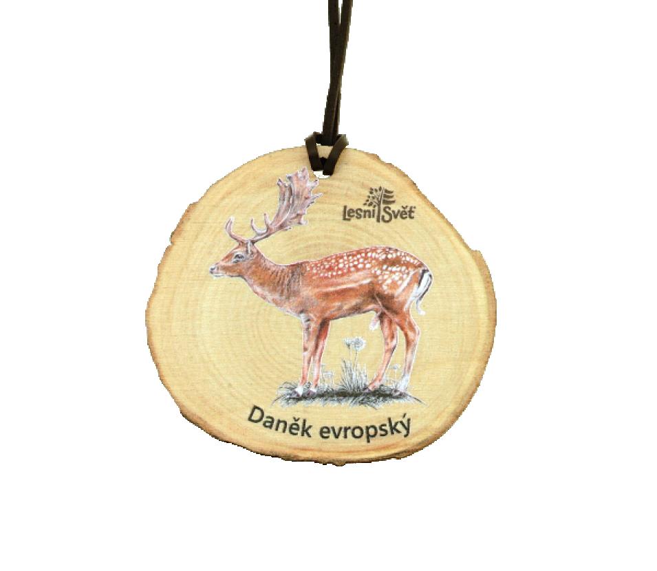 Dřevěná medaile letokruh daněk