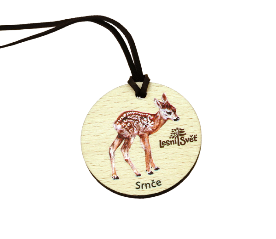 Dřevěná medaile masiv srnče
