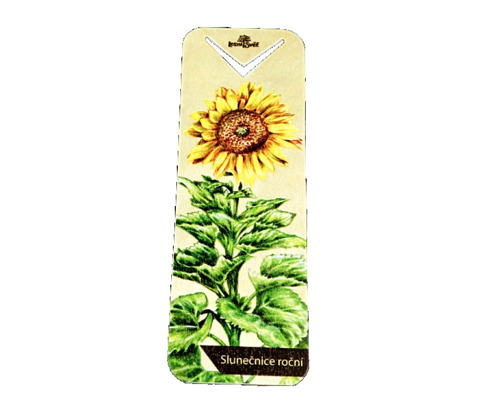 Dřevěná záložka slunečnice