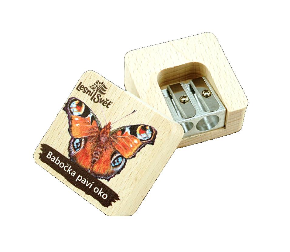 Dřevěné ořezávátko - babočka
