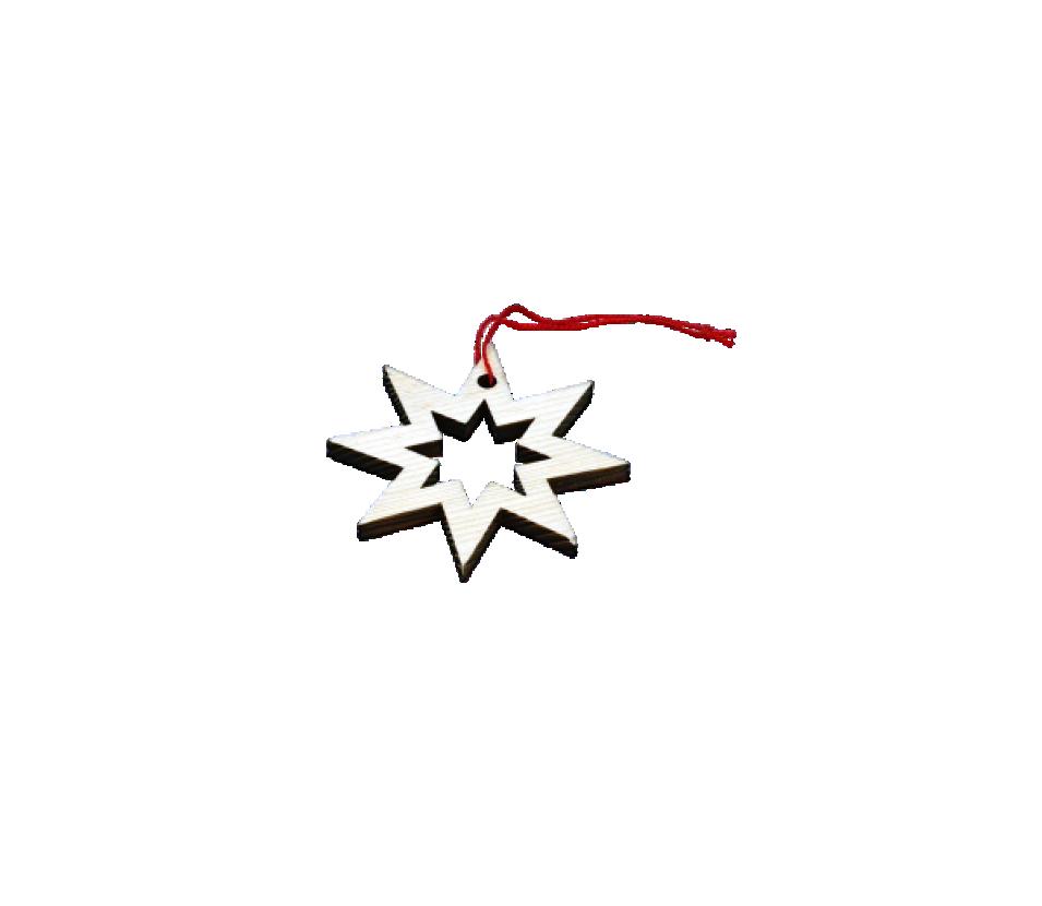 Ozdoby dřevěné hvězda