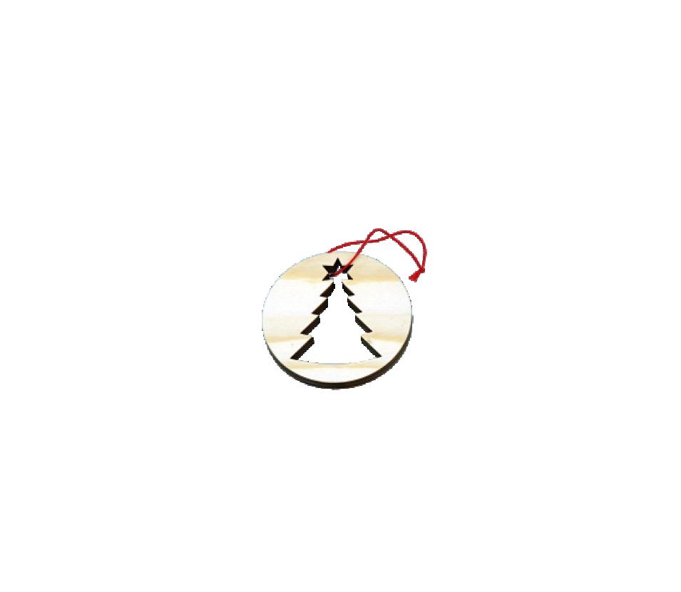 Ozdoby dřevěné kolečko se stromkem