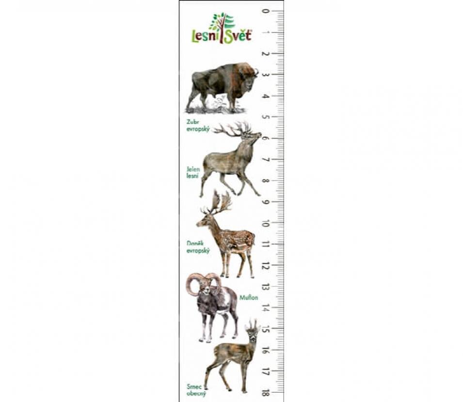Papírová záložka s měřítkem - Zubr