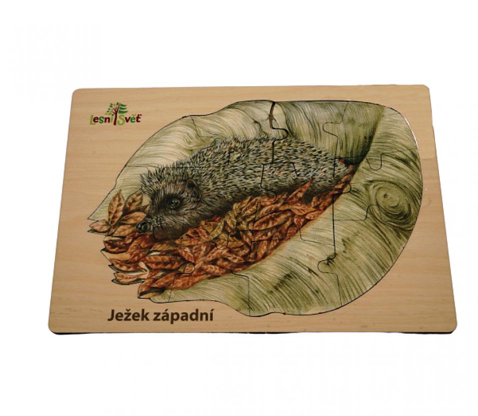 Puzzle z lesa ježek