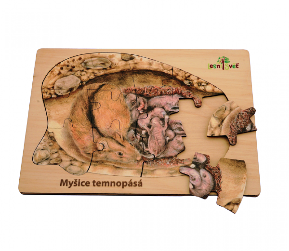 Puzzle z lesa myšice