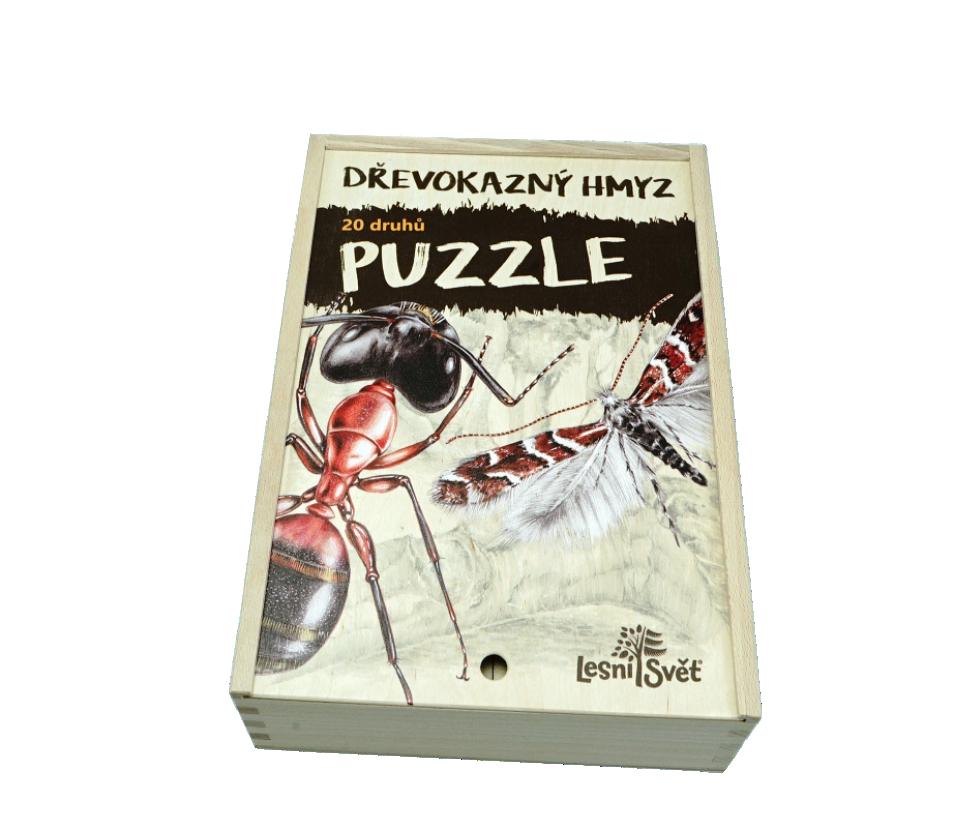 Sada Puzzle - Dřevokazný hmyz