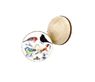 Dřevěná káča ptáci