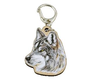 Přívěsek na klíče zvíře vlk