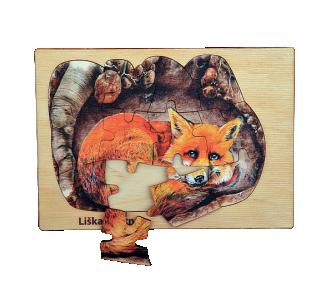 Puzzle z lesa liška